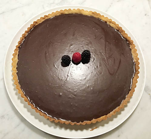 French Chocolate Tart - Cuisine Inspired