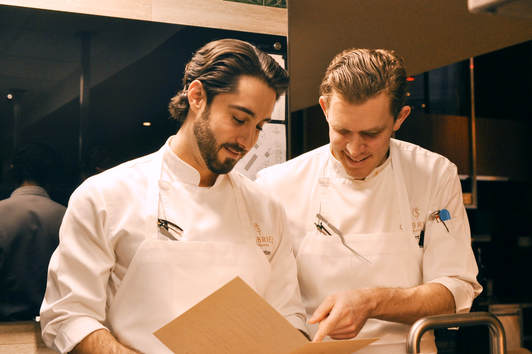 Joe Anthony, Chef de Cuisine and Robert Pugh Sous-Chef at Gabriel Kreuther - Cuisine Inspired